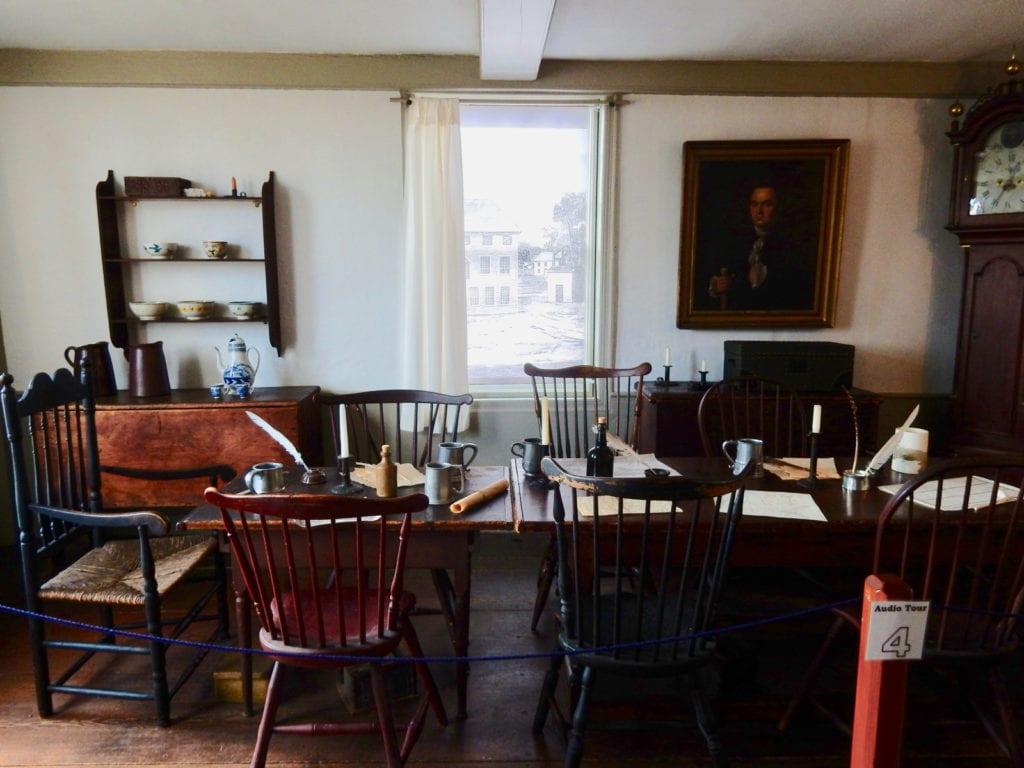 Mens area Buckman Tavern Lexington MA