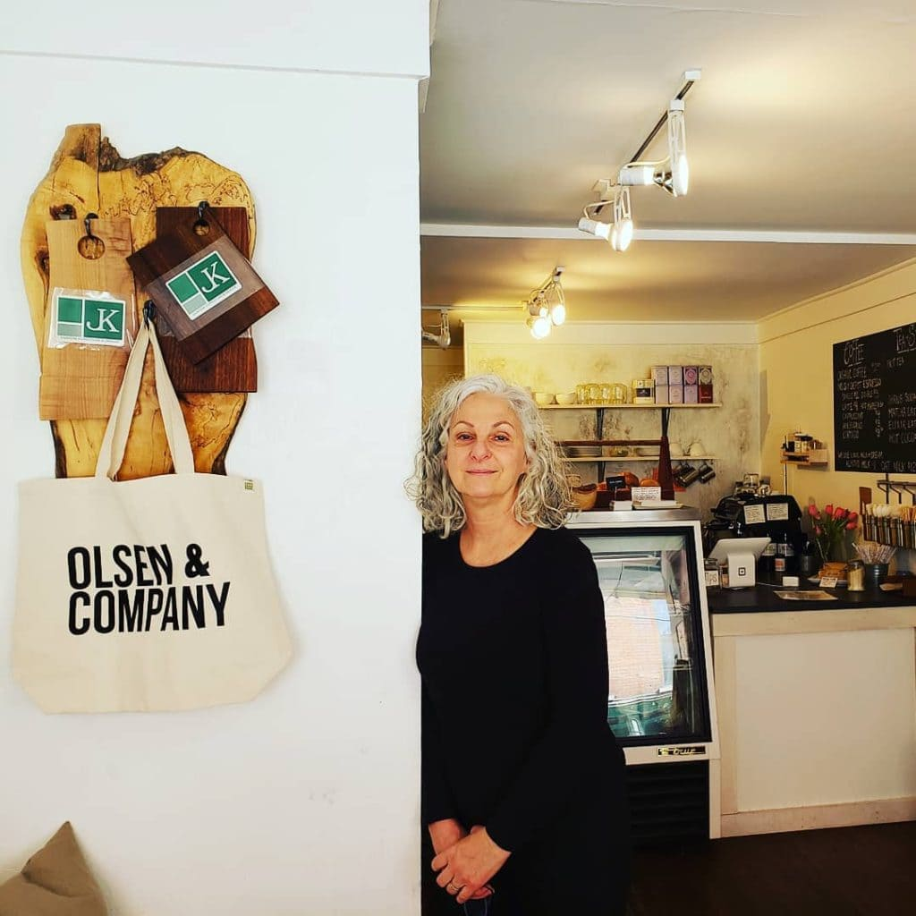 Marianne Olsen, owner, O and Co Saugerties NY