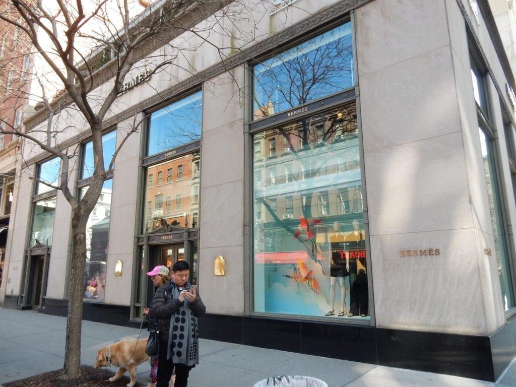 Outside Hermes Madison Ave NY NY