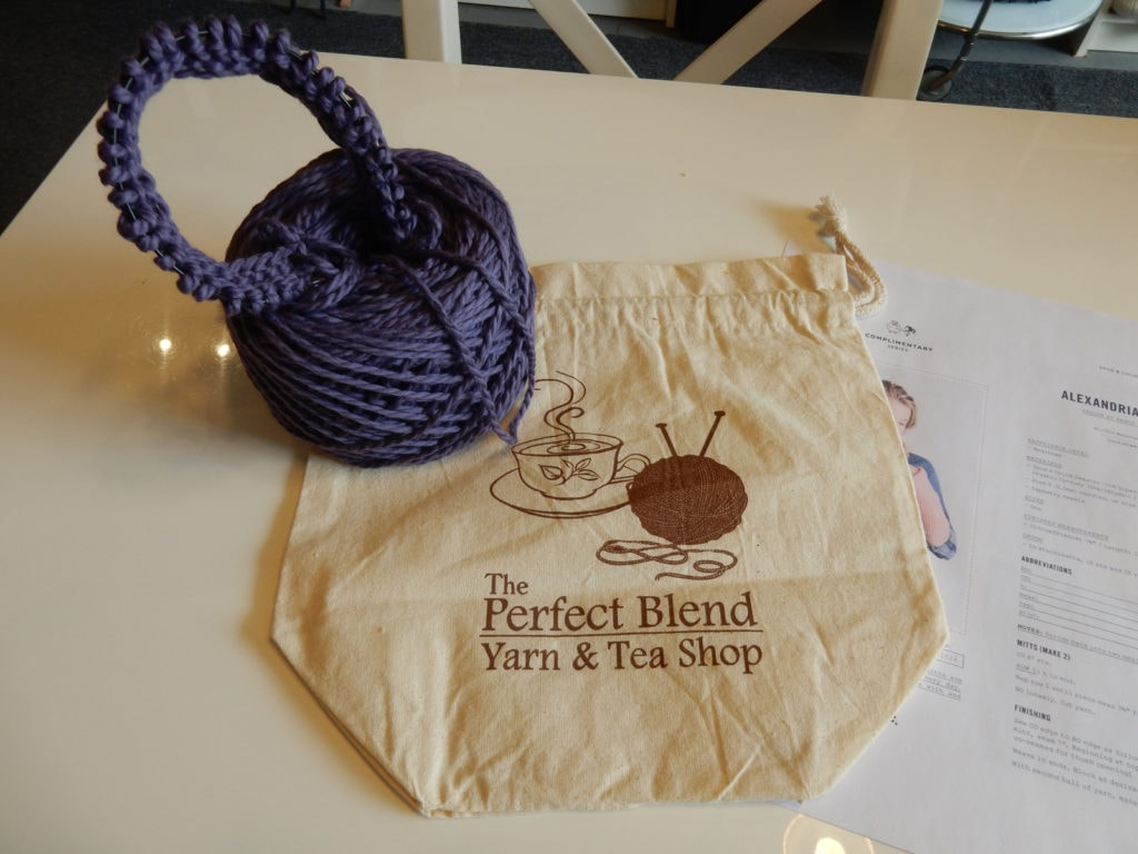 Roll of wool at The Perfect Blend Yarn and Tea Shop Saugerties NY