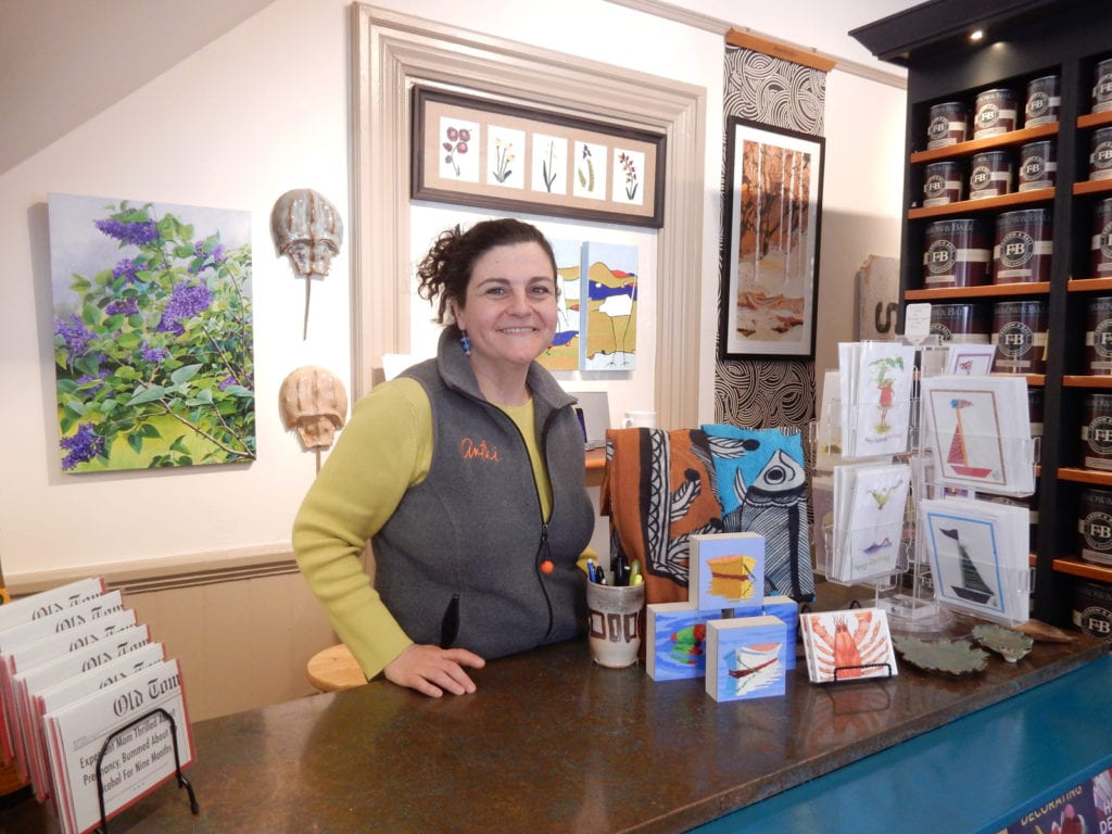Anthi Frangiadis owner The Drawing Room New Bedford MA