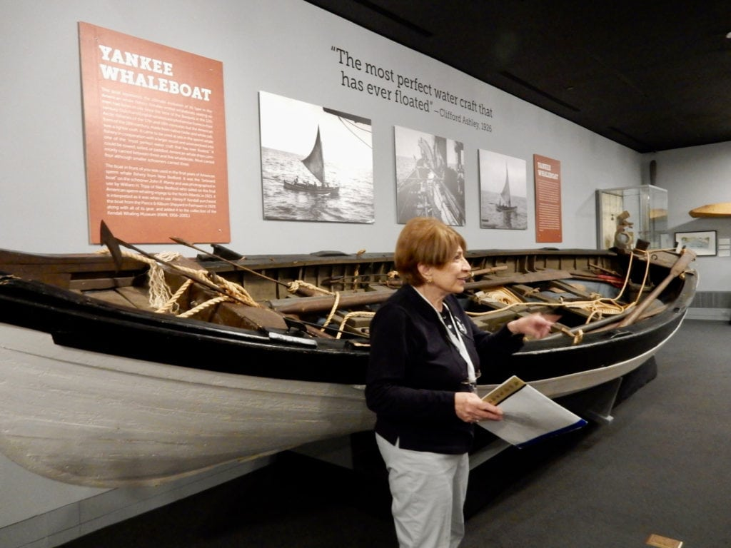 Penny guiding New Bedford Whaling Museum MA
