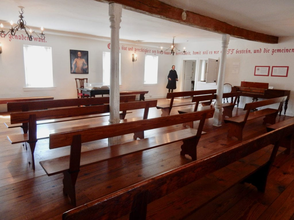 Saal Worship Room Moravian Museum Bethlehem PA