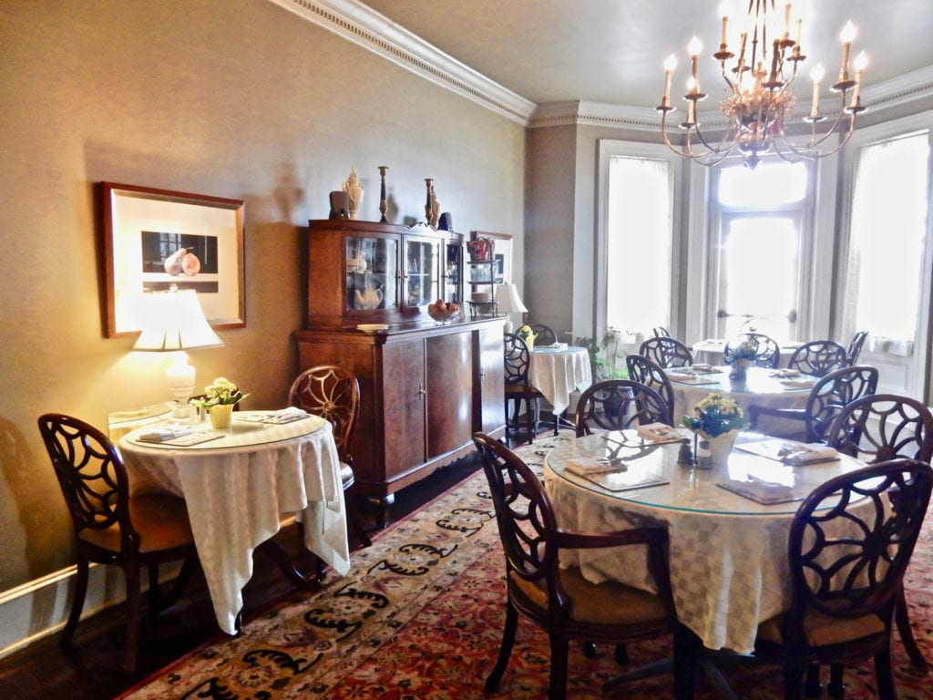 Sayre Mansion Breakfast Room Bethlehem PA