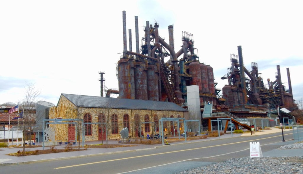 SteelStacks Visitor Center and Hoover-Mason Trestle Bethlehem PA