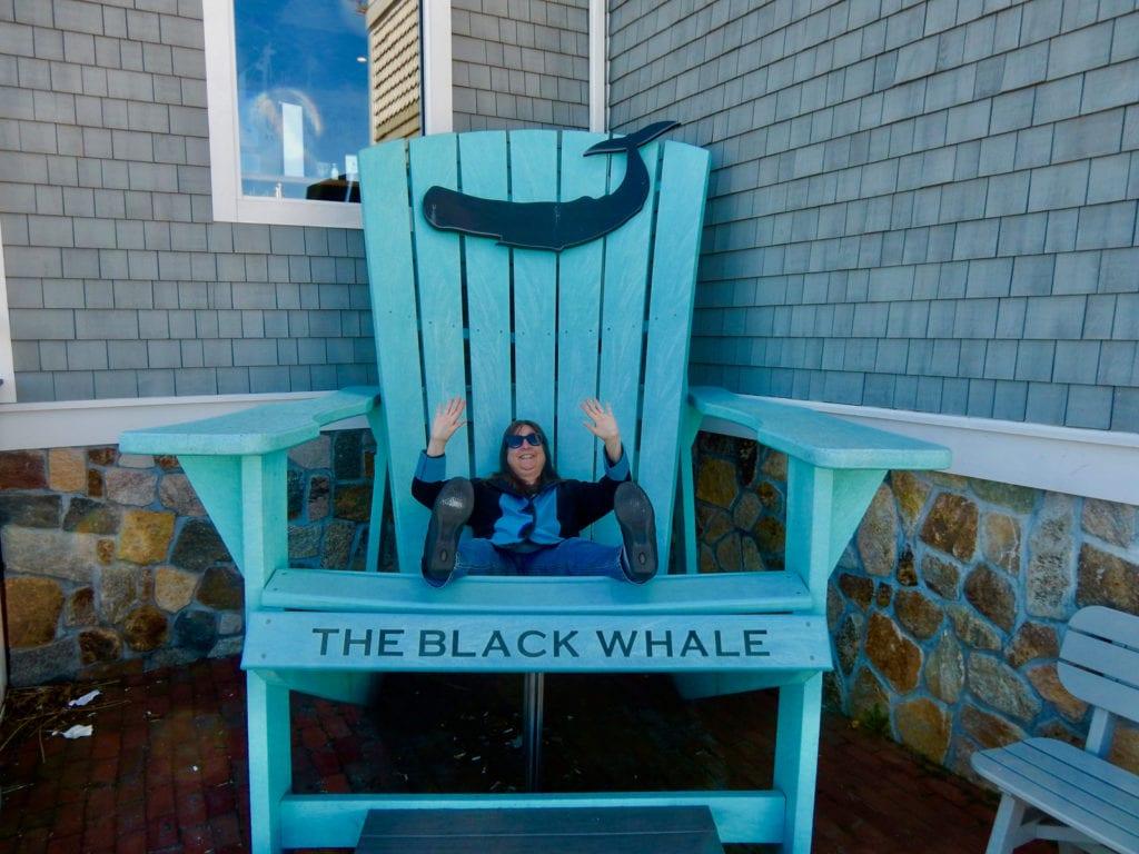 The Black Whale big blue chair New Bedford MA
