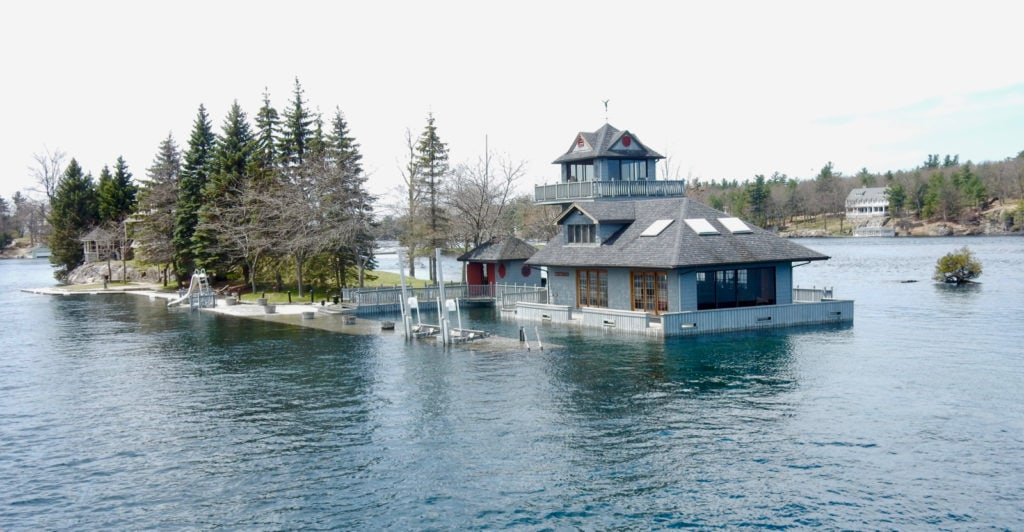 Flooded Docks in Thousand Islands NY