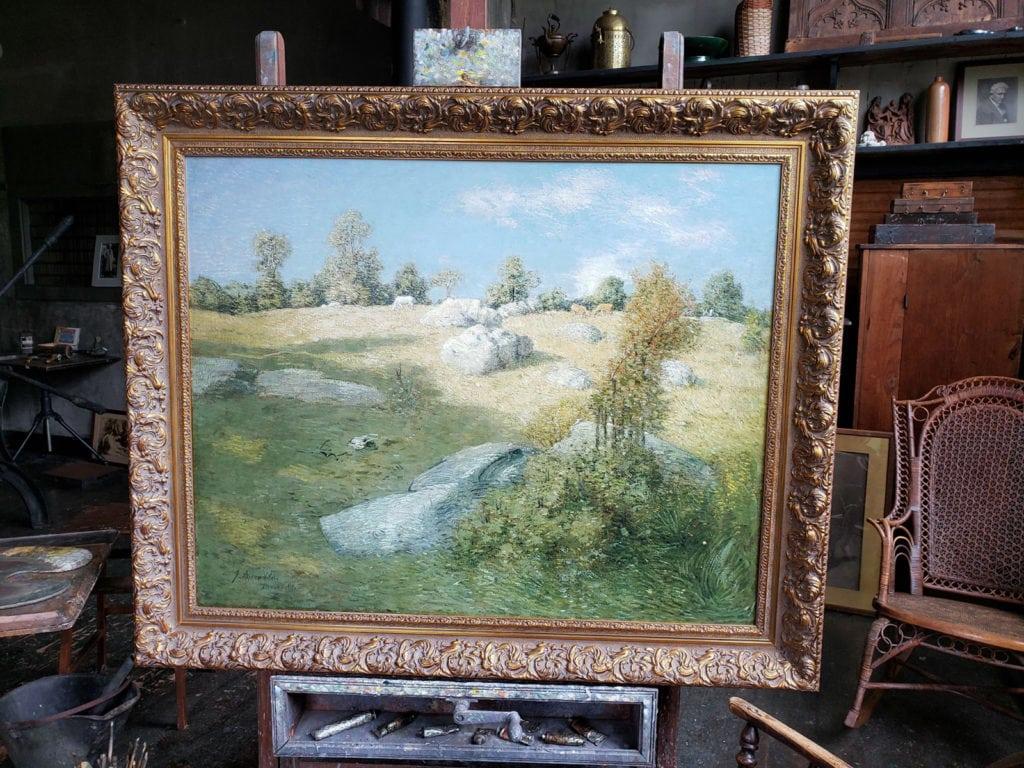 J. Alden Weir Painting Weir Farm Ridgefield CT