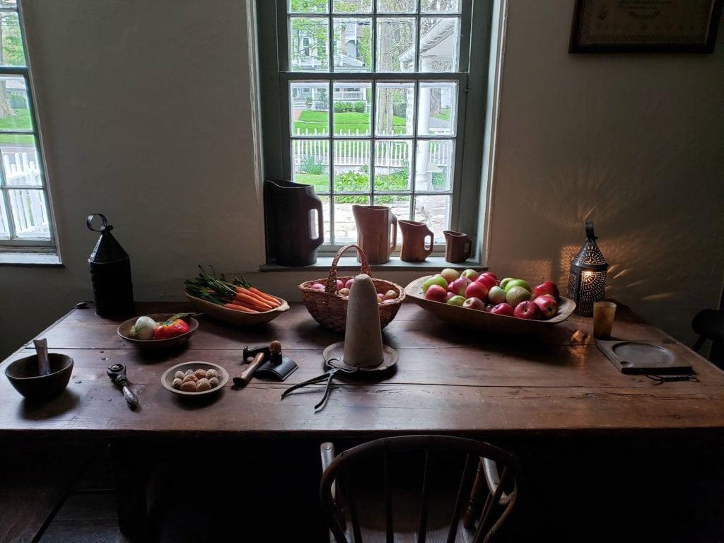 Table top Still Life at Keeler Tavern in Ridgefield CT
