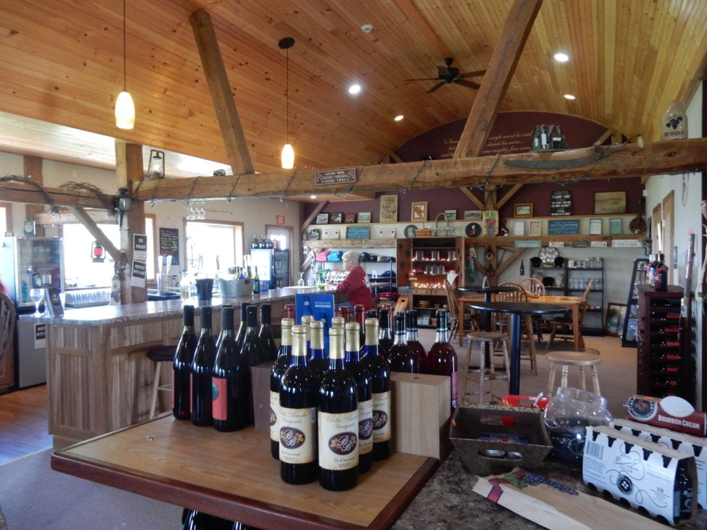 Tasting Room Bella-Brooke Vineyard Black Lake NY