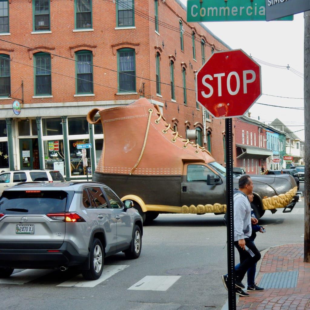 Maine Icon on Wheels LLBean Boot