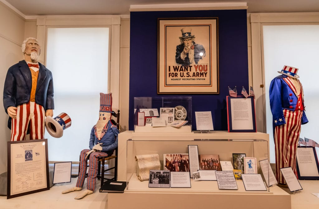 Uncle Sam Display at Rensselaer County Historical Society in Troy NY.