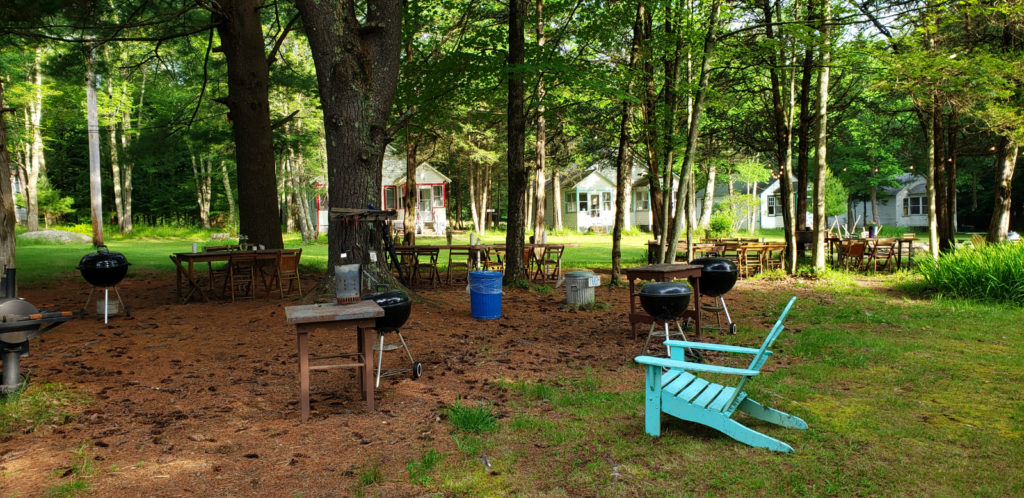 Central picnic and grilling area at The Glen Wilde Mountain Dale NY
