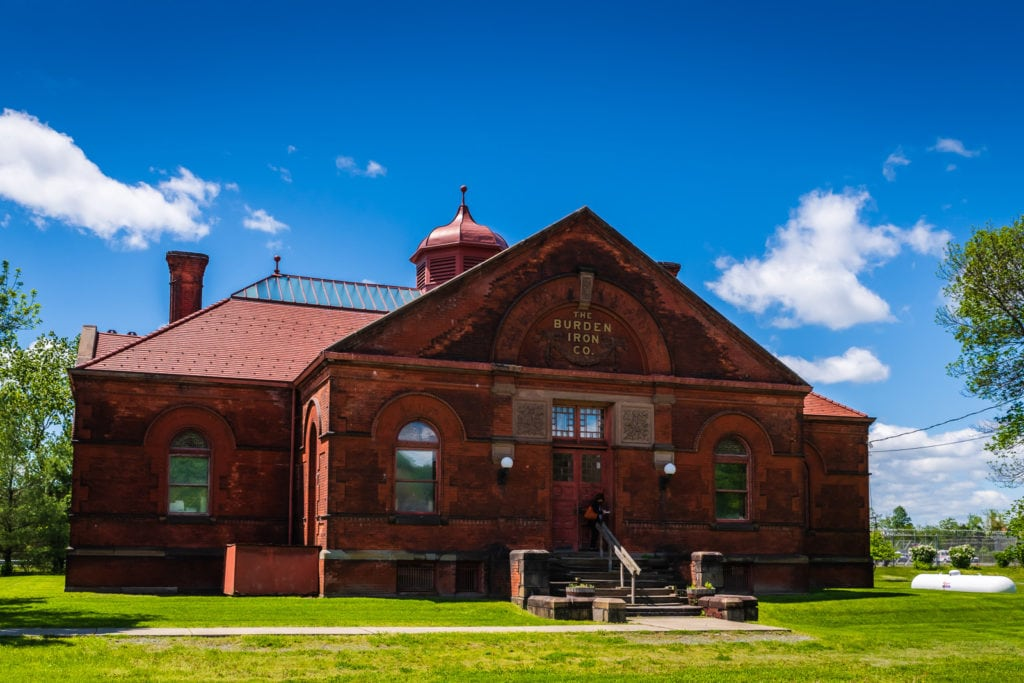 Exterior of the Burden Ironworks Museum in Troy NY.