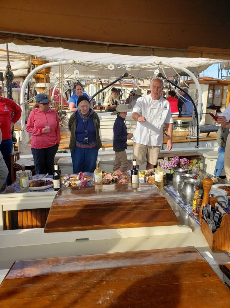 Presentation of appetizers on the Windjammer Stephen Taber