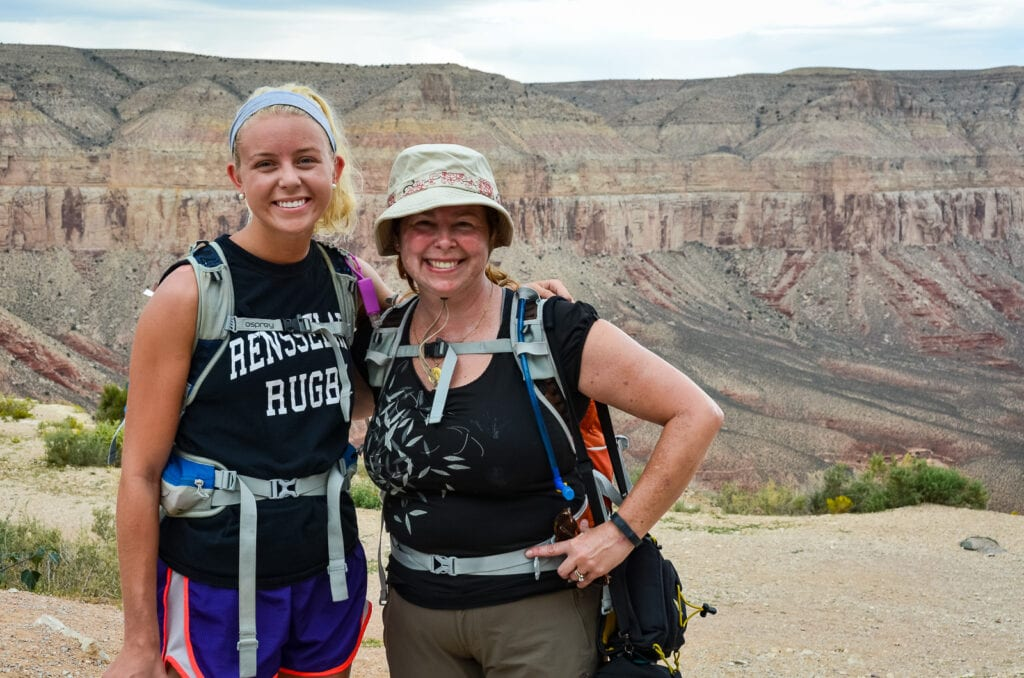 Mother and daughter reunited after hike to Havasu Falls.