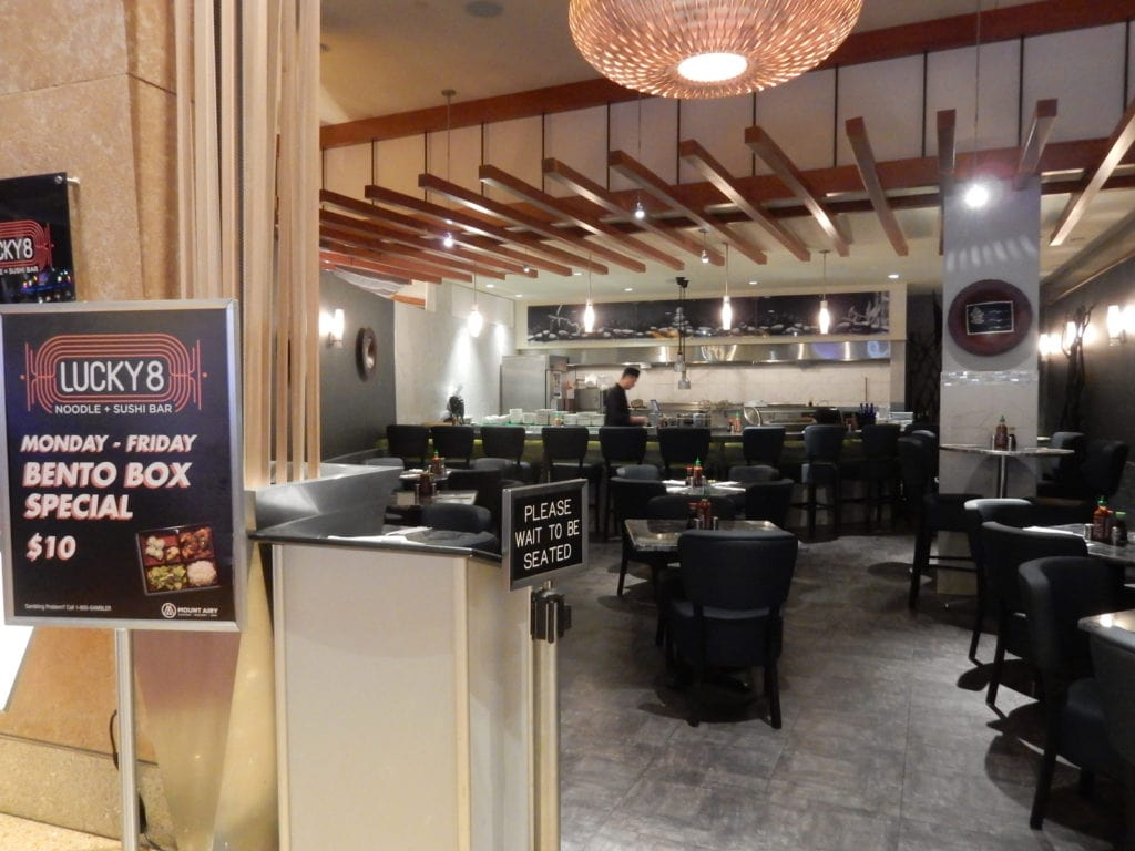 Wide view of Noodle Bar at Mount Airy Casino