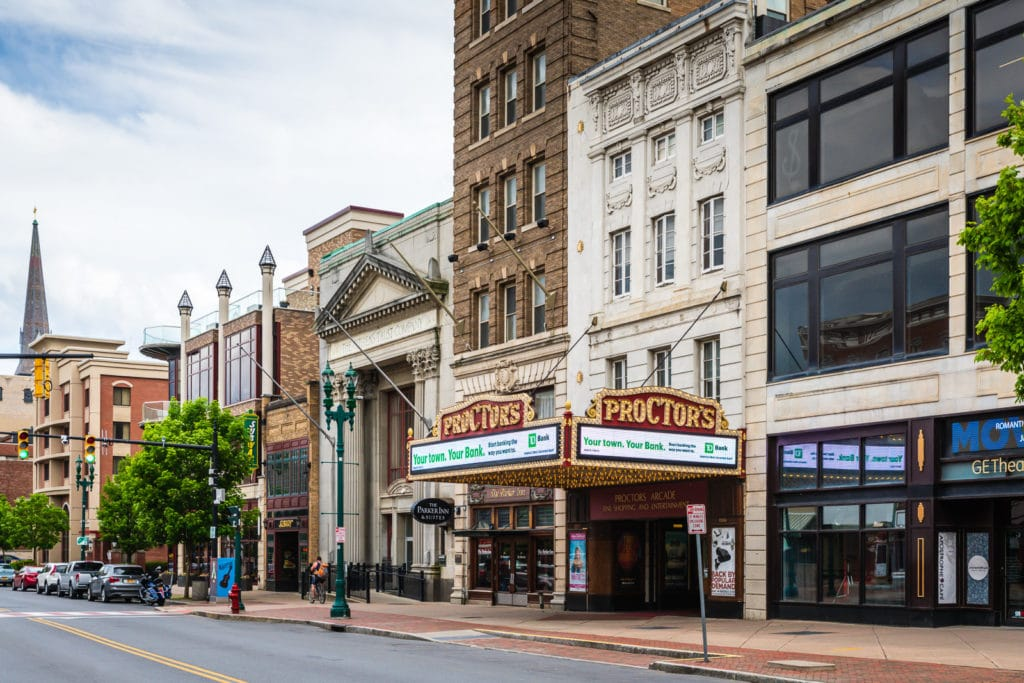 Parker Inn and Proctors Theater in Schenectady NY
