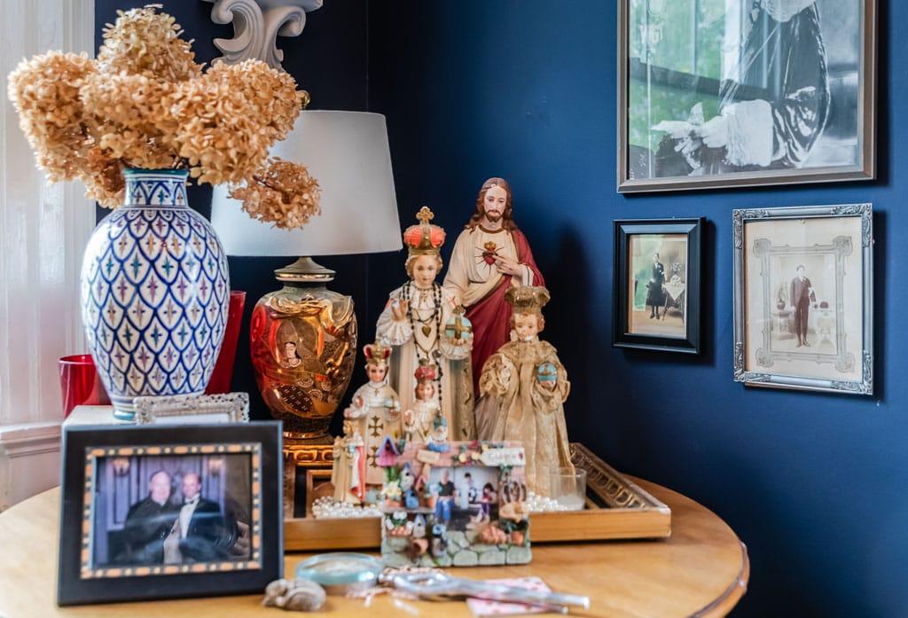 Religious icons and figurines throughout Gardner Farm Inn