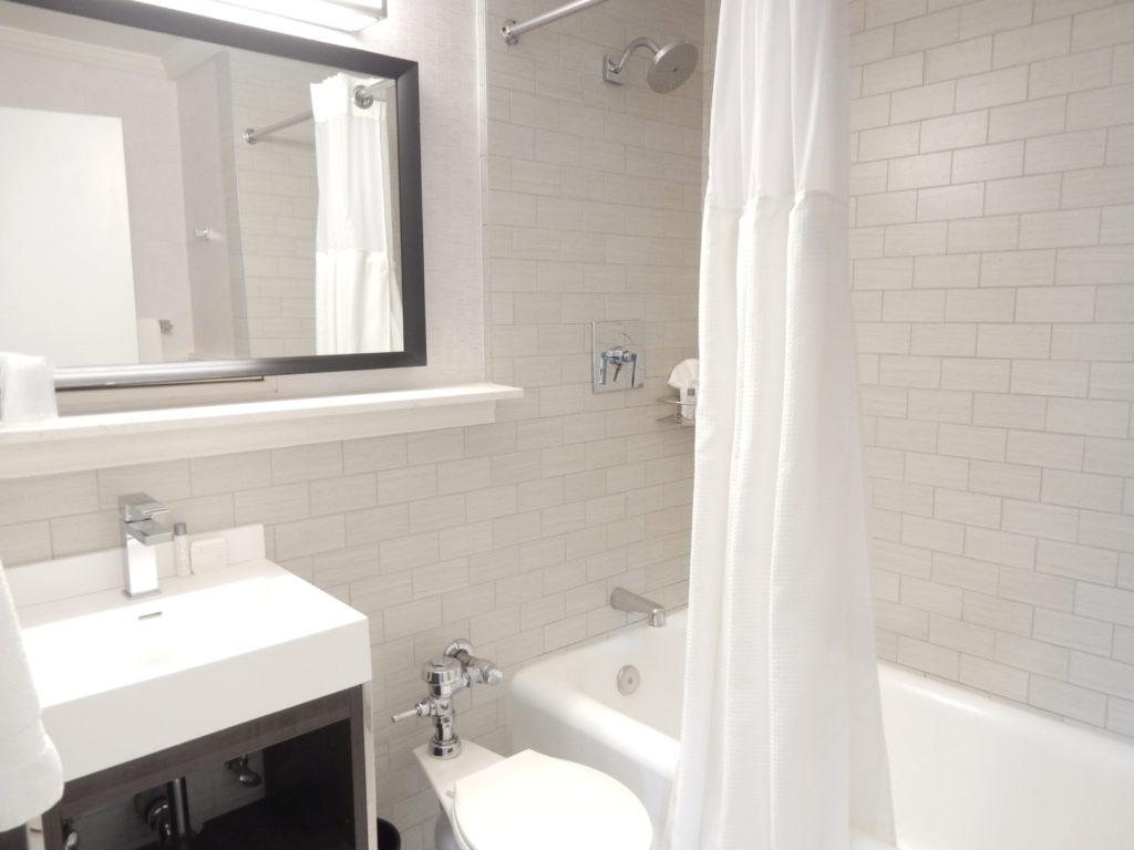 Updated Bathroom Boston Park Plaza