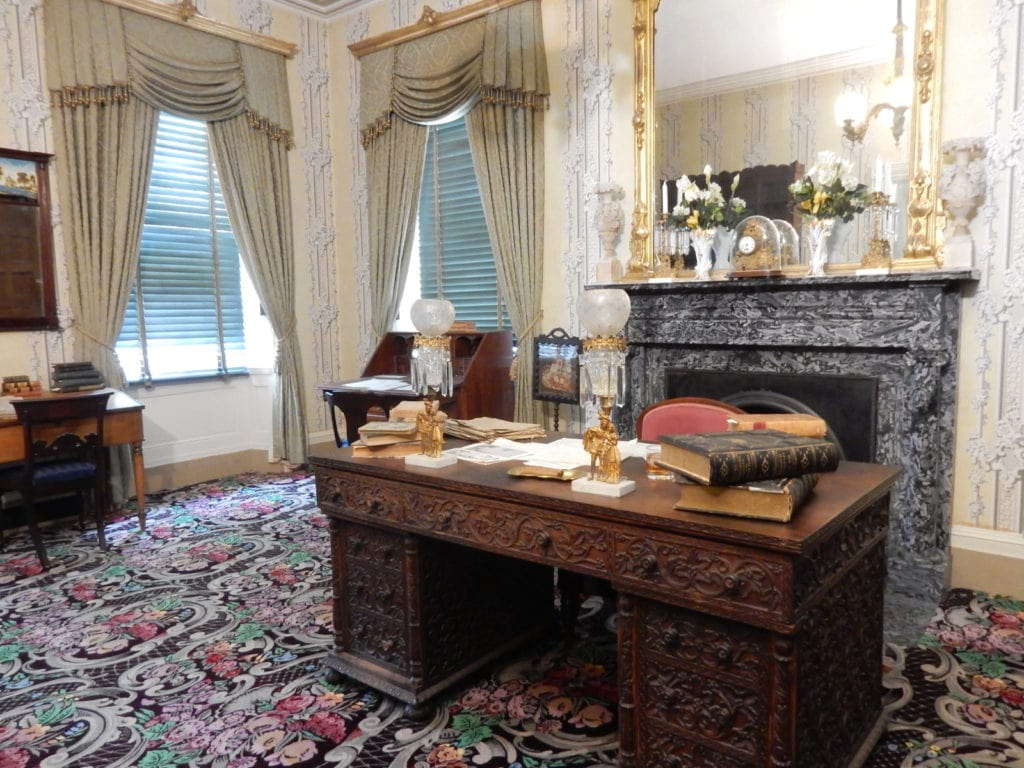 James Buchanan's desk at Wheatland, the president's home in Lancaster PA.