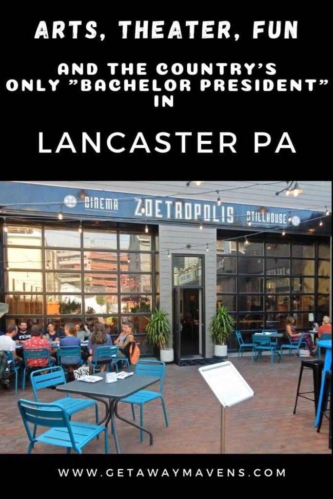 Lancaster PA Arts Pin