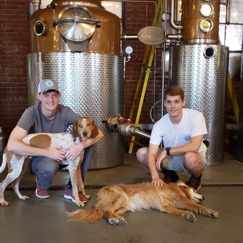 Braeden Bumpers and Tyler Hegamyer, owners, McClintock Distilling Co. Frederick MD