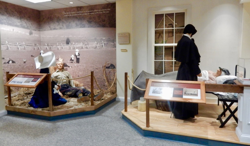 Sisters of Charity Civil War Nurses diorama at Saint Elizabeth Ann Seton Shrine, Emmitsburg MD
