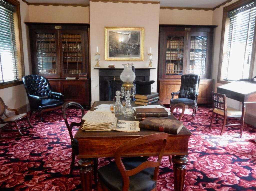 Library at Wheatland, President Buchanan home in Lancaster PA