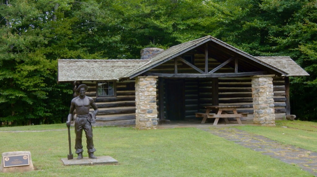 PA State Park cabin built by CCC at PA Lumber Museum