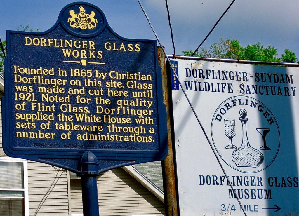 Dorflinger Glass Museum and Wildlife Sanctuary White Mills PA