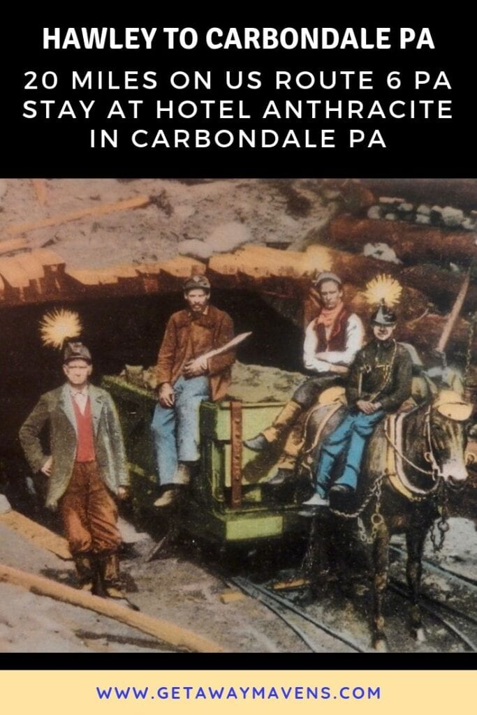 Hawley PA to Carbondale PA Pin