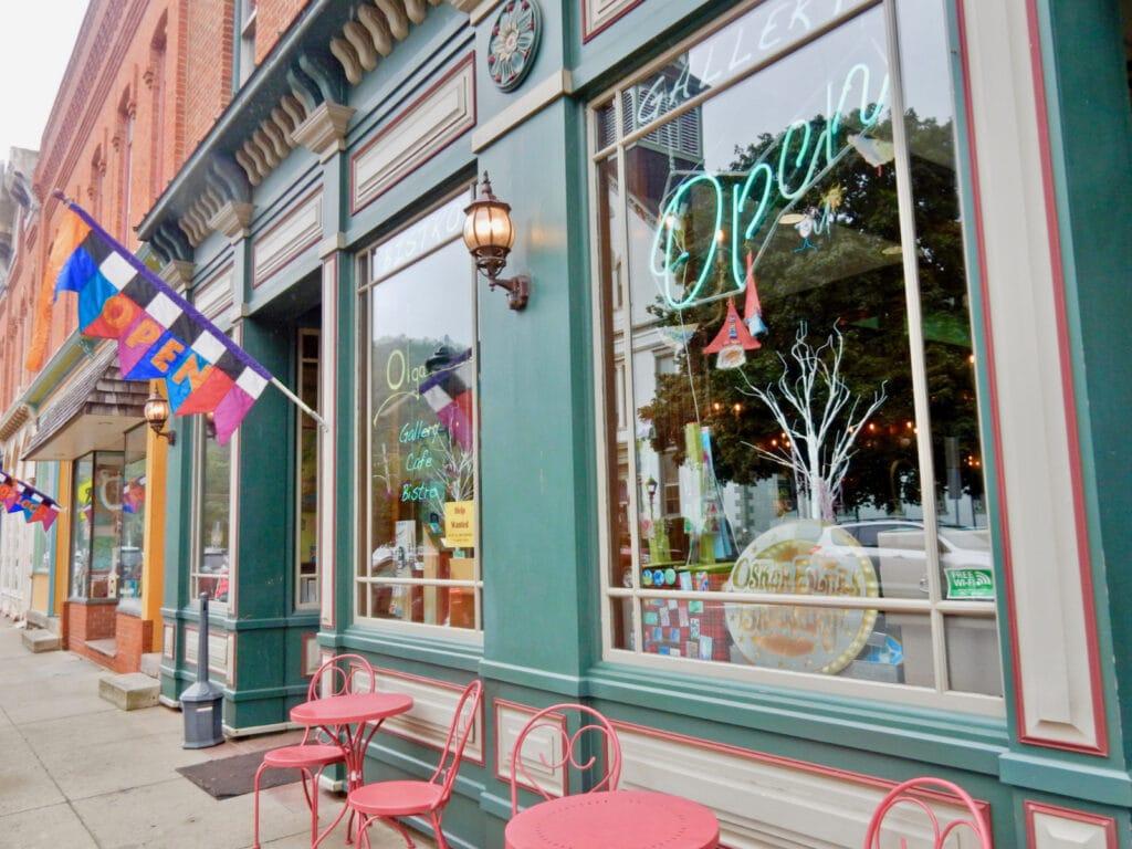 Olgas Gallery Cafe Bistro Yarn Shop Coudersport PA