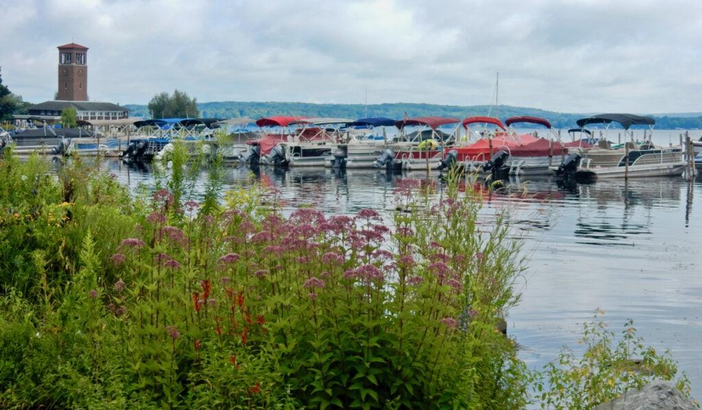 Pontoon Boats Lake Chautauqua Institution NY