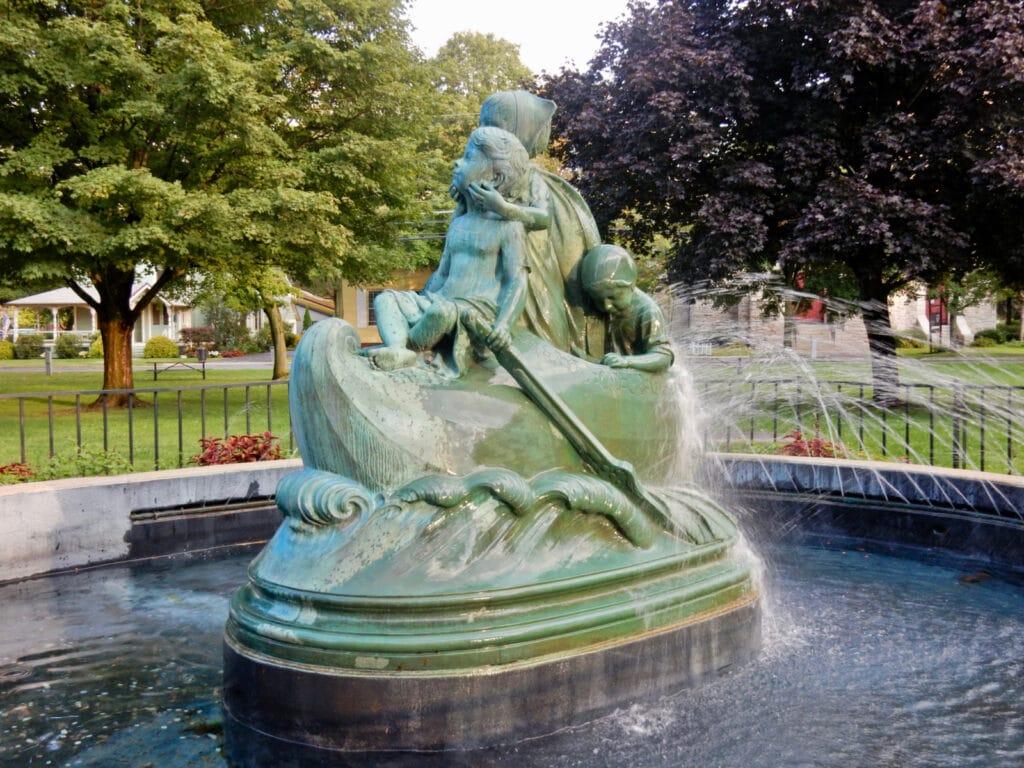 Wynken Blynken and Nod Fountain Wellsboro PA