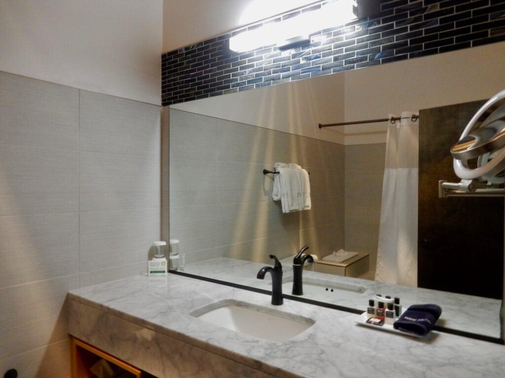 Pristine modern bathrooms Hotel Cape Charles VA