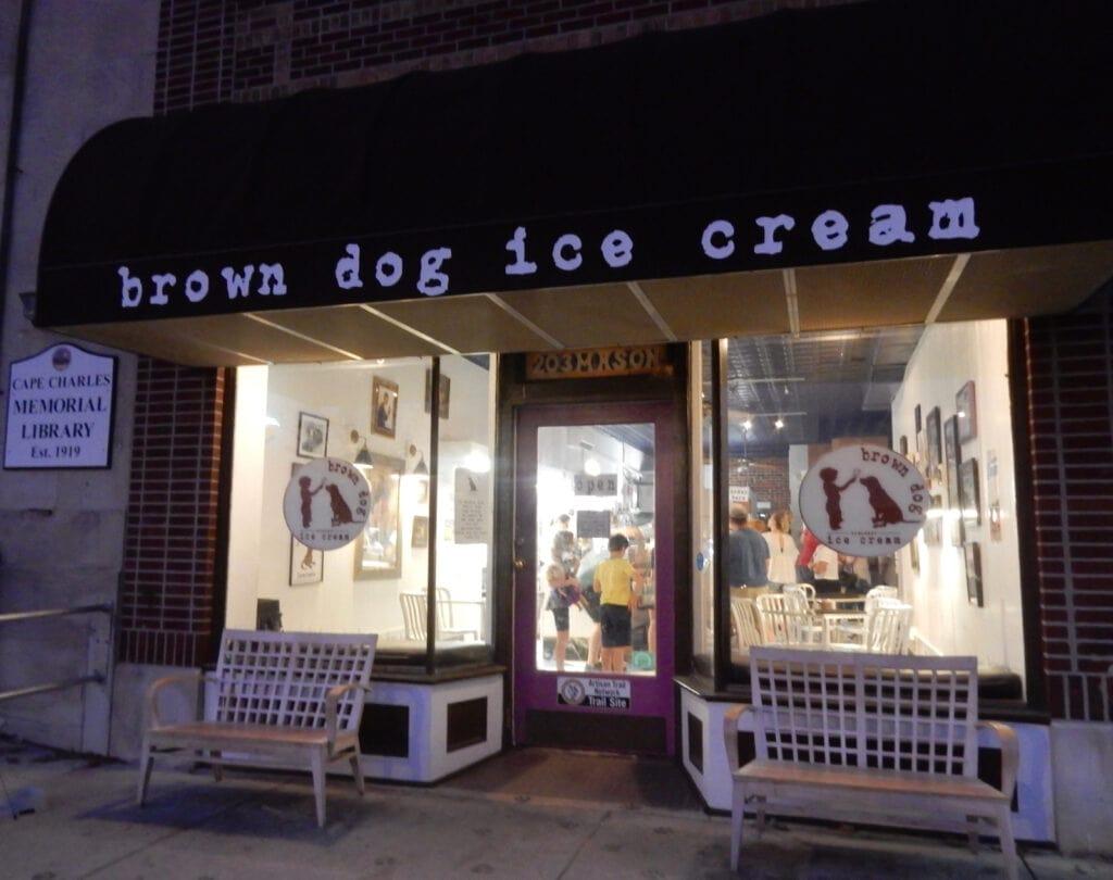 Exterior Brown Dog Ice Cream Shop Cape Charles VA