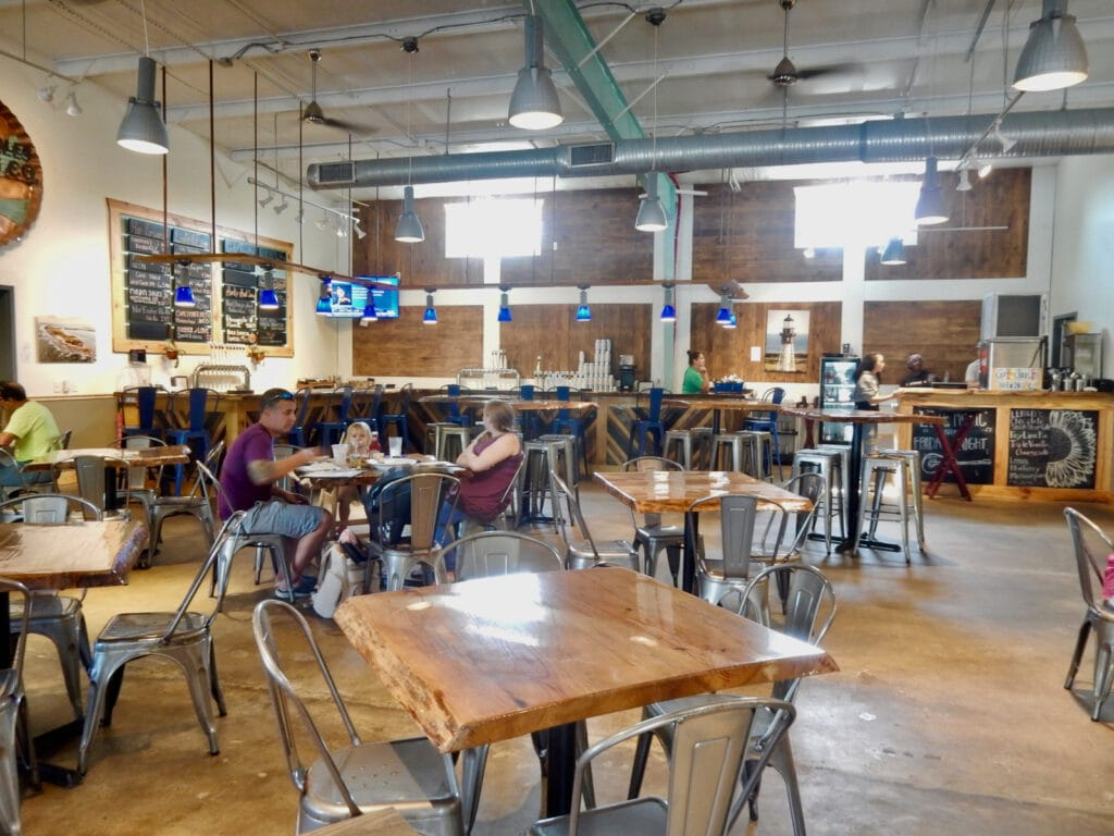 Interior of Cape Charles Brewery