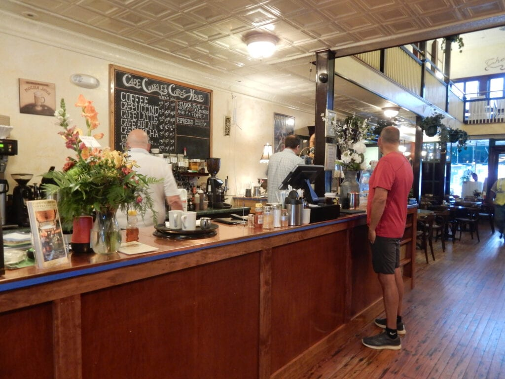 Counter at Cape Charles Coffee House