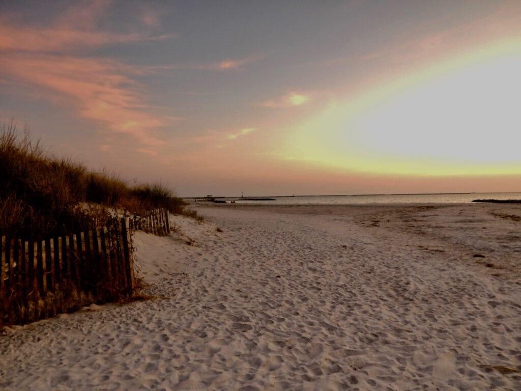 Sunset over Cape Charles VA beach