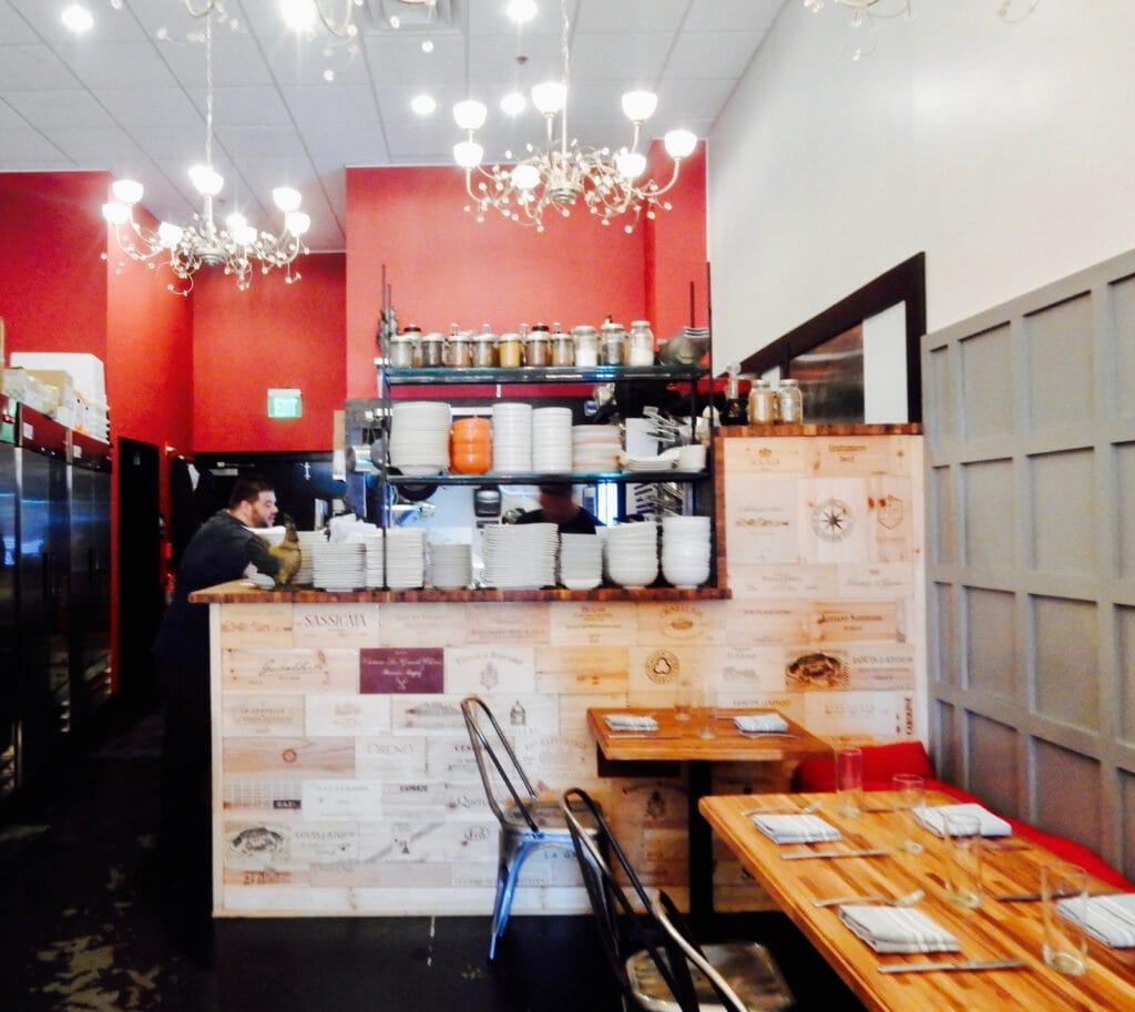 Funky interior of Ciro Restaurant Wilmington DE