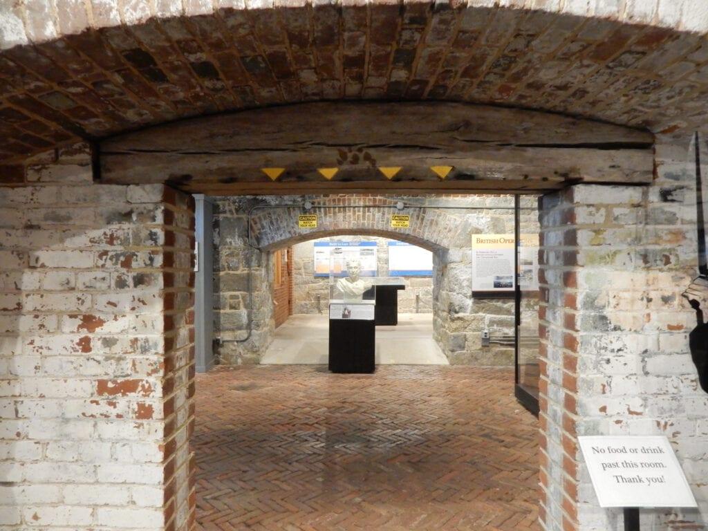 Interior Fort Monroe Casement Museum Hampton VA