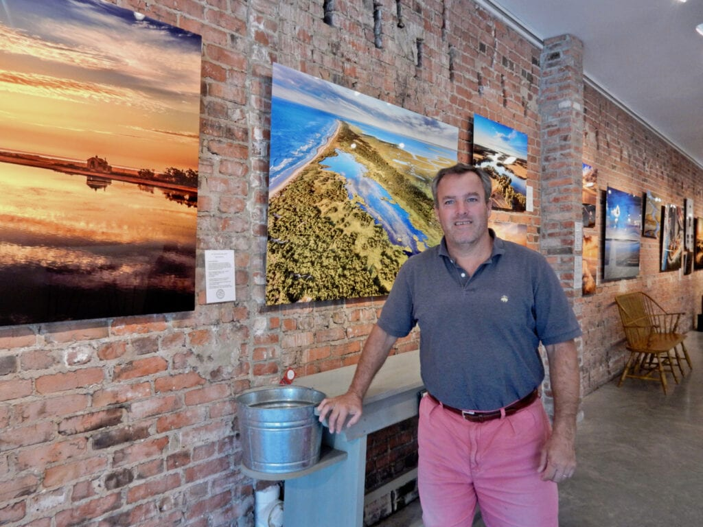 Gordon Campbell with his Barrier Island photos Cape Charles VA