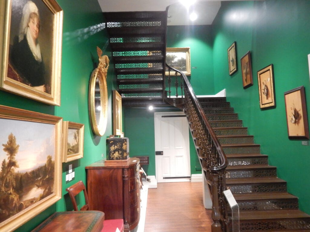 Iron Staircase between second and 3rd floors Biggs Museum Dover DE