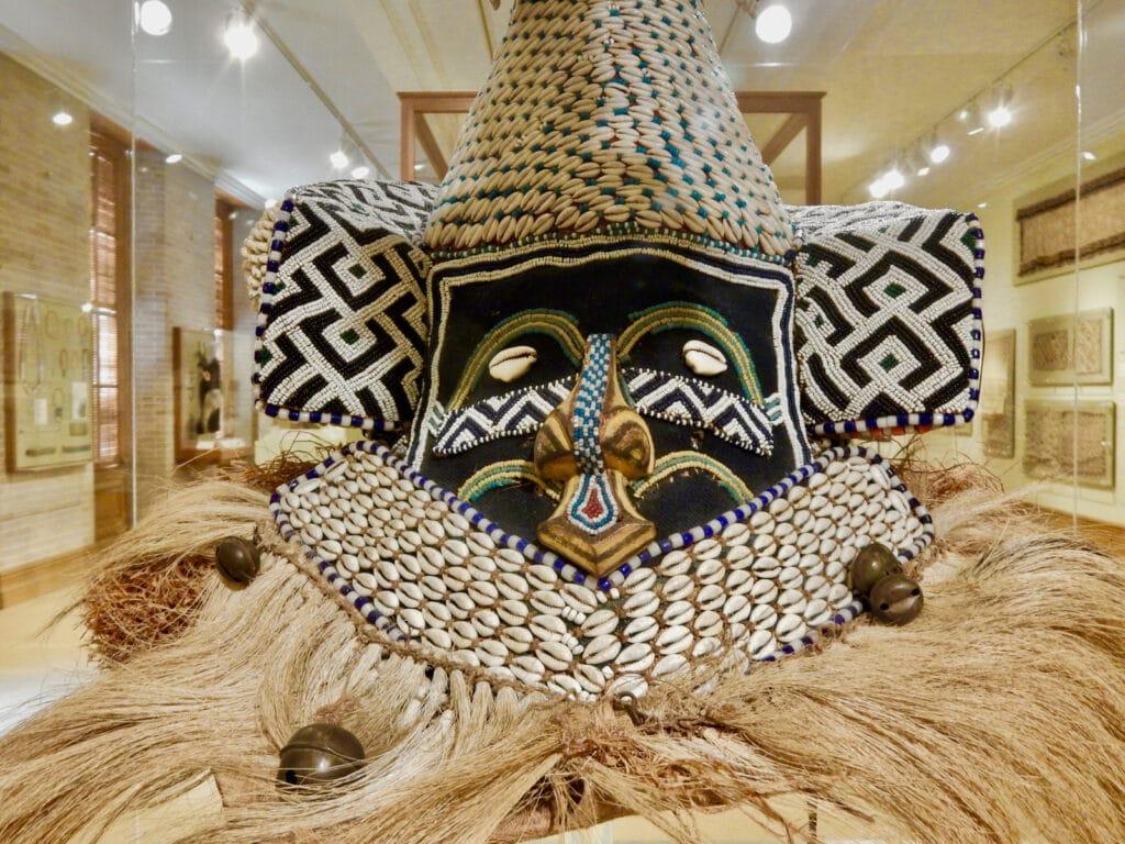 African Kuba Mask close up Hampton University Museum VA