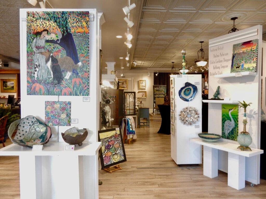 Interior of Lemon Tree Art Gallery Cape Charles VA