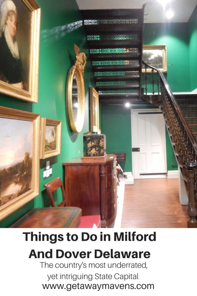 Milford and Dover Delaware Weekend Getaway Pinterest Pin