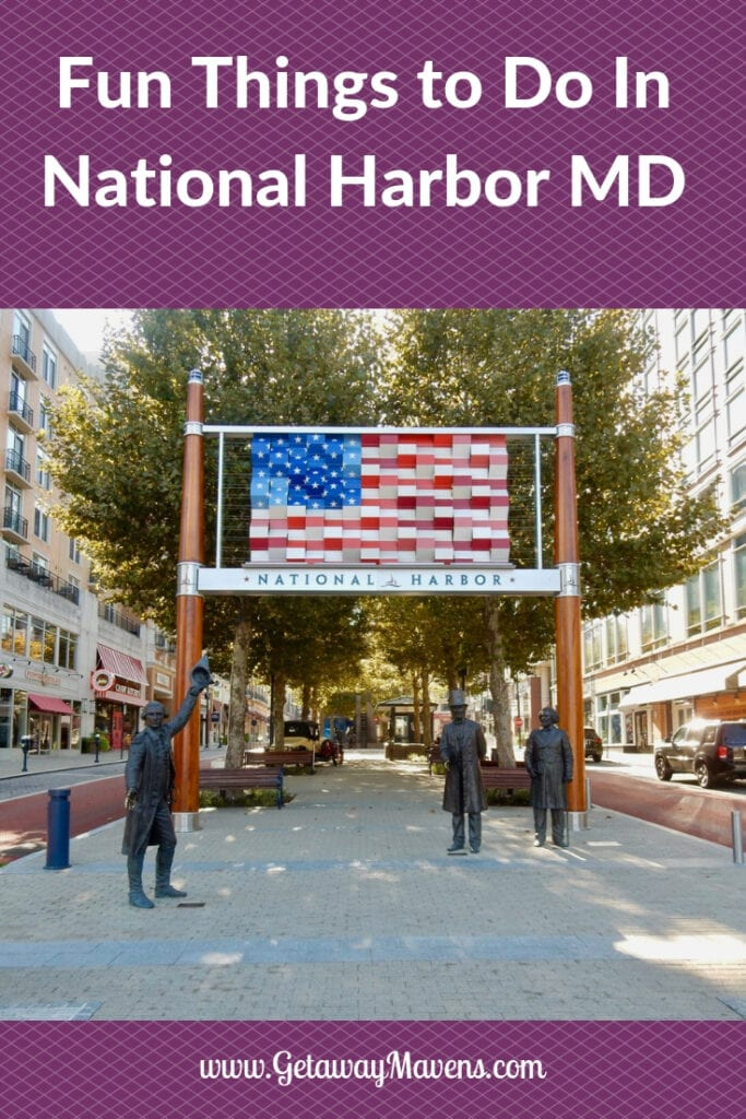National Harbor MD Pinterest pin