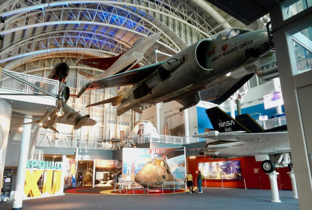 Huge gallery in Virginia Air and Space Museum Hampton VA
