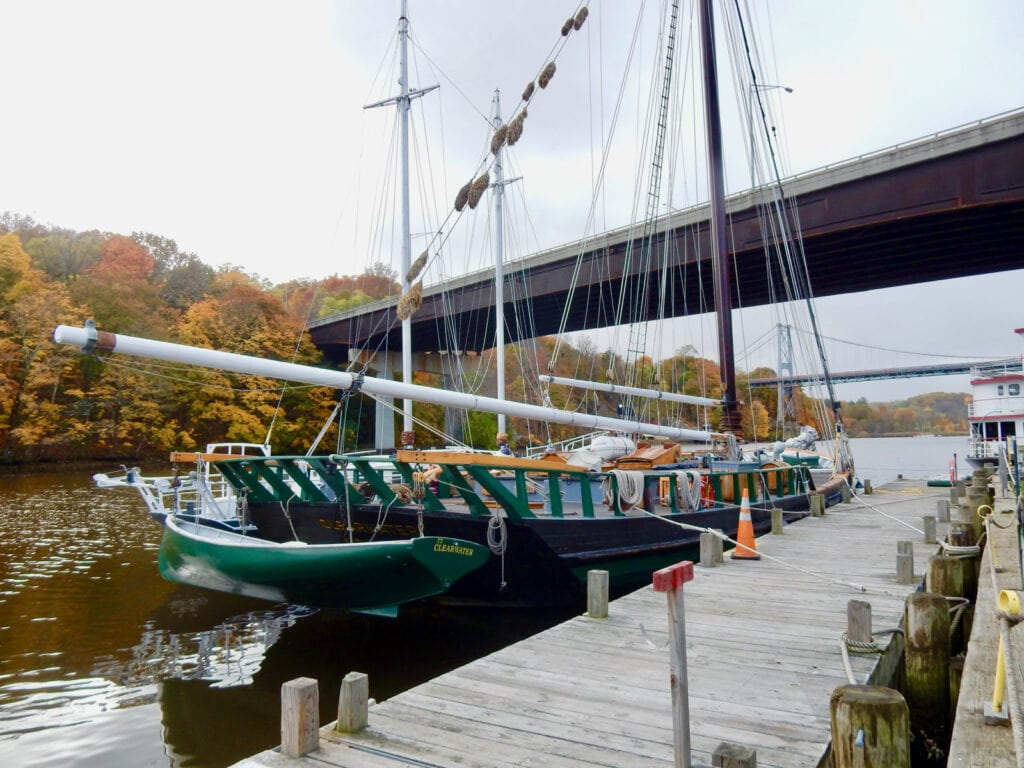 Sloop Clearwater at home berth Kingston NY